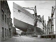Photo: Fine View: The Empress Of Britain Under Construction: John Brown Shipyard