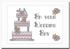 WEDDING DAY - WEDDING CAKE - CROSS STITCH CARD KIT