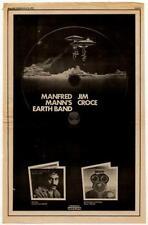 Manfred Mann's Earthband Jim Croce LP advert 1973