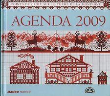 oop DMC Mango 2009 Agenda. French cross stitch. point de croix