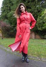Sale! Red Rubber Rainwear, Rubber Proofed Raincoat Nylon-silk Mackintosh large