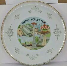 "1962 Seattle Worlds Fair Collectible Ceramic Plate Century Souvenir Co. 10-3/8"""