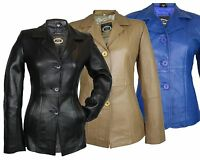 Damen Lederblazer Lederjacke Blazer echtleder Jacke aus Lammnappa Leder Anzug