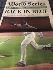 LOS ANGELES LA TIMES WORLD SERIES OCTOBER 29 2017 DODGERS ASTROS BACK IN BLUE