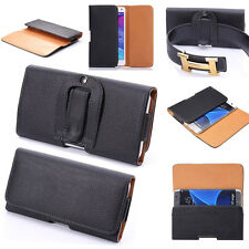 Black PU Leather Pouch Holder Belt Clip Holster SKin Case For Samsung S7 S7 Edge