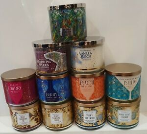 Bath & Body Works 3 Wick Candles FREE POST from usa