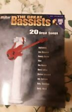 The Great Bassists Bass w Tablature Sheet Music BookBass Guitar 20 Great Songs