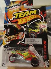 Team Hot Wheels Tri & Stop Me!! Yellow Stickers Included