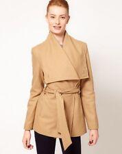 Ted Baker Adiri Matild Camel Jacket Coat Cashmere Wool Sz 1 US 6 4 S tan