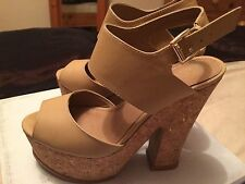 """ALDO Women's 100% Leather Wedge Very High Heel (greater than 4.5"""") Shoes"""