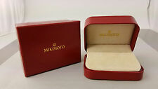 NEW! Never used Red Mikimoto Pearl Co. Earring/Pendant Box Clean!