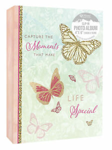 """Capture the Moments Make Life Special Photo Album 80 Photographs Slip In 4 x 6"""""""