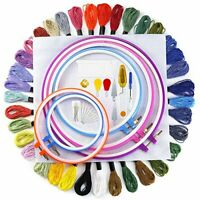 Pllieay Embroidery Starter Kit Cross Stitch Starter Kit Including 5 Pieces