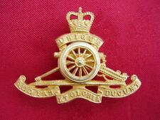 Royal Artillery Officers RA Gilt Colour Metal Army NO1/NO2 Dress Cap/Beret Badge