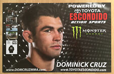 DOMINICK CRUZ SIGNED AUTOGRAPHED 11X17 PROMO POSTER MMA UFC CHAMP THE DOMINATOR