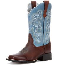NIB Ariat Women's Quickdraw Brown Rowdy Square Toe Boots 10004720