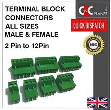 Bloque terminal de PCB Verde rampas conector 5.08mm Plug-In Tornillos 2 3 4 5 6 7 8 Pin