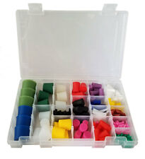 High Temp Silicone Plug Kit for Paint and Powder Coat - 250 pieces with Case!