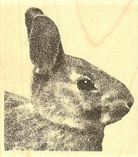 Rabbit Profile, Wood Mounted Rubber Stamp IMPRESSION OBSESSION - NEW, G16179
