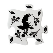 Raven Crow 4 Coasters Barware Party Kitchen Horror Gothic Halloween Ceramic Gift