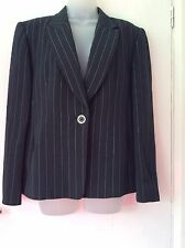 "Gerry weber black pinstripe tailored Wool Blend jacket size 38 "" chest"