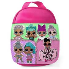 Personalised Lunch Bag LOL SURPRISE Pink School Girls Kids Childrens Box KS118