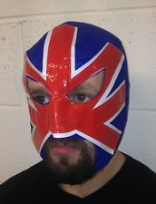 Hooligan mexicain lucha libre luchador adulte catch masque drapeau britannique rouge bleu