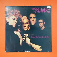 CRAMPS Songs The Lord Taught Us SP 007 JG LP Vinyl VG++ Cover VG IRS/Illegal