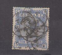 GB QV 1883 10/- Ultramarine SG183 Fine Used JK1394