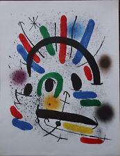 Joan MIRO - Lithographie litografia lithograph original I Mourlot 1972 *