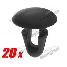 20 pcs Car Hood Fender Retainer Clip Trim Panel Black Nylon For Toyota