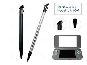 2 x Black Stylus 1 Extendable for New Nintendo 2DS XL/LL Plastic Replacement Pen