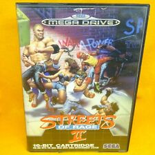 VINTAGE 1992 SEGA MEGA DRIVE STREETS OF RAGE II 16-BIT CARTRIDGE GAME PAL 1