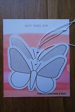 Kikki K BE BRAVE butterfly gift tags with gold foiling 2pk