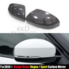 Car Sport Vogue For Land Rover Range Rover Carbon Fiber Mirror Cover 2014 2015 +