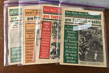 INCREDIBLY RARE 1976 Pro Football Weekly Newspaper Lot X 4 WOW!!