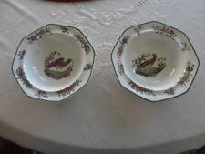 Two Vintage Royal Doulton Lytton 6.5 inch Pheasant Design Bowls