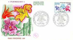 Enveloppe FDC FRANCE FLORALIES INTERNATIONALES 1969 PARIS