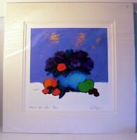 Signed Limited Edit. Phil Johns Numbered Mounted Print  Floral Still Life Art