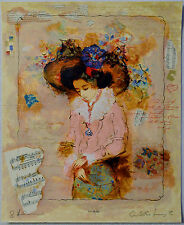 ALEXANDER & WISSOTZKY LOVELY LADY SERIGRAPH SIGNED PP#48/50 W/COA PRINTERS PROOF