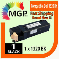 1x Generic Black toner cartridge for Dell 1320 1320c 1320cn Colour Printer