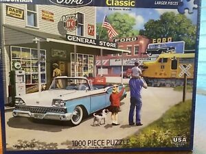 """White Mountain 1000 Piece Puzzle Made in USA """"Ford American Classic"""""""