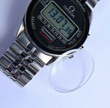 OMEGA SPEEDMASTER DIGITAL LCD 186.0004 NEW WATCH SAPPHIRE GLASS/CRYSTAL