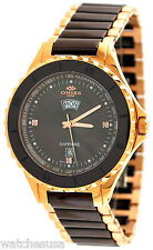 Oniss ON8012-MRG33 Sports Black Dial Two Tone Men's Watch