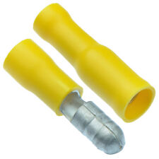 50 x PAIRS Yellow Bullet Insulated Crimp Terminal Connectors