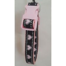 Rosewood Pink Hearts Adjustable Nylon Puppy Collar Small / Medium
