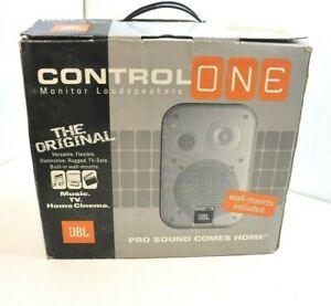 JBL CONTROL ONE 2-Way 200W 8Ω Bookshelf Speakers PAIR - BOXED NEW OLD STOCK
