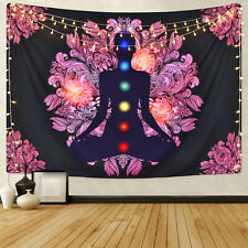 Chakra Buddha Tapestry Wall Hanging Indian Yoga Artwork Tapestry Home Decoration