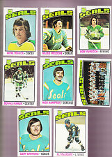 1976 Topps Team SET Lot of 8 California GOLDEN SEALS NM MERRICK MARUK MacADAM