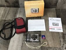 Canon PowerShot A1100 IS 12.1MP Digital Camera - Gray With Case and 2 GB Card